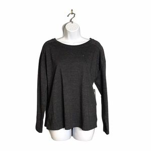 Daisy Fuentes | NWT Distressed Gray Sweater